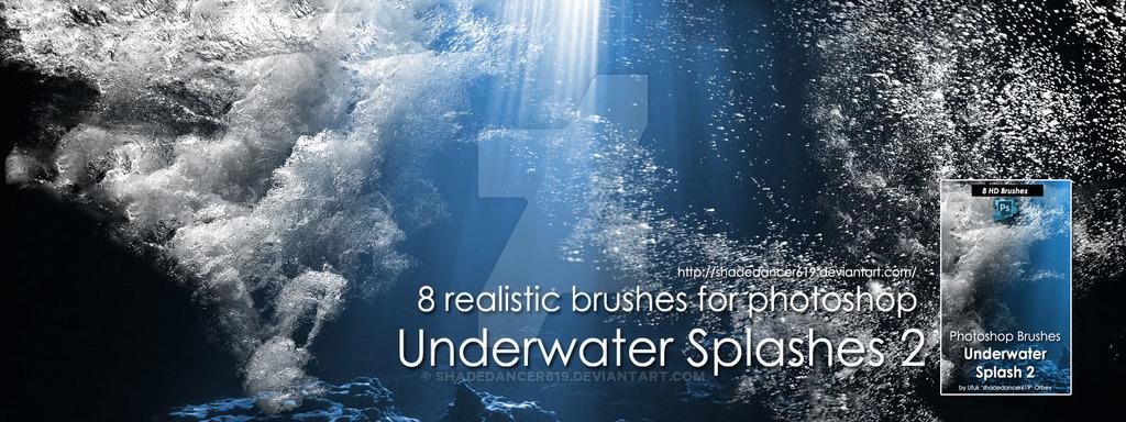 水下气泡和水花装饰PS笔刷