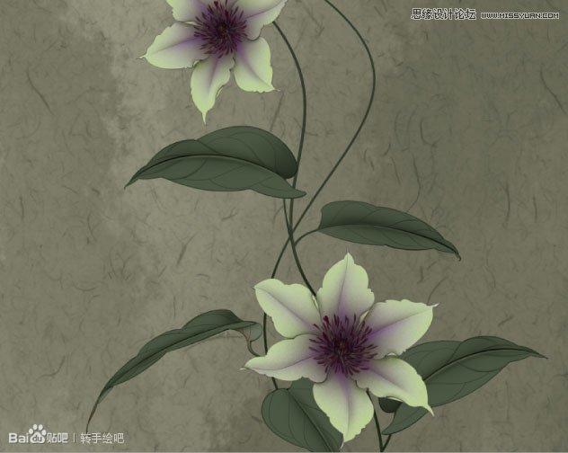 Photoshop绘制古典风格的工笔画手绘效果 6