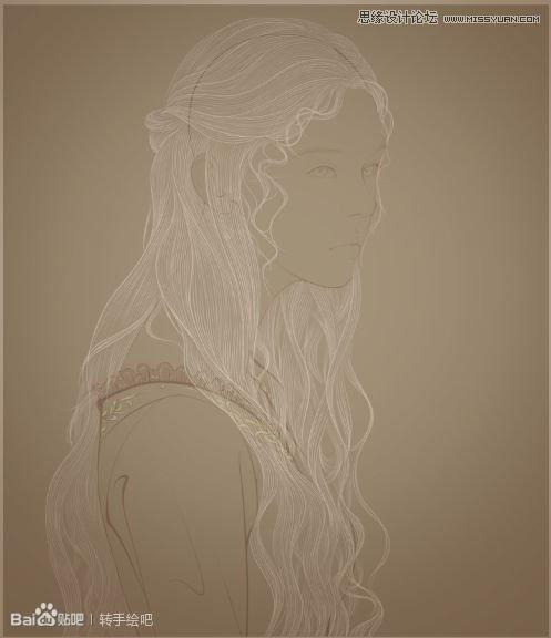 Photoshop绘制古典风格的工笔画手绘效果