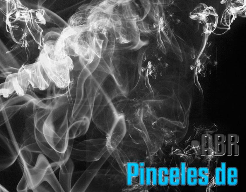 烟雾和烟丝装饰特效PS笔刷