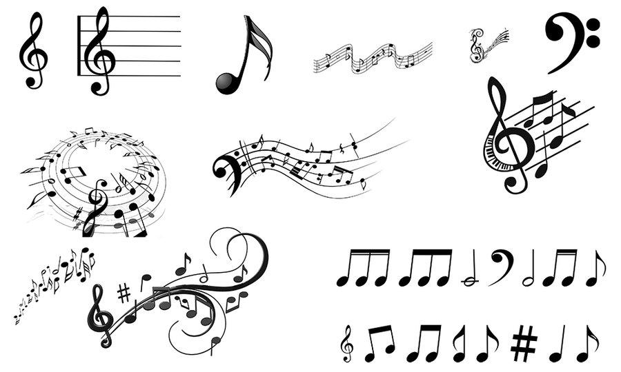 乐谱和音符PS笔刷