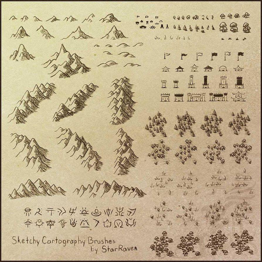游戏手绘地图ps笔刷