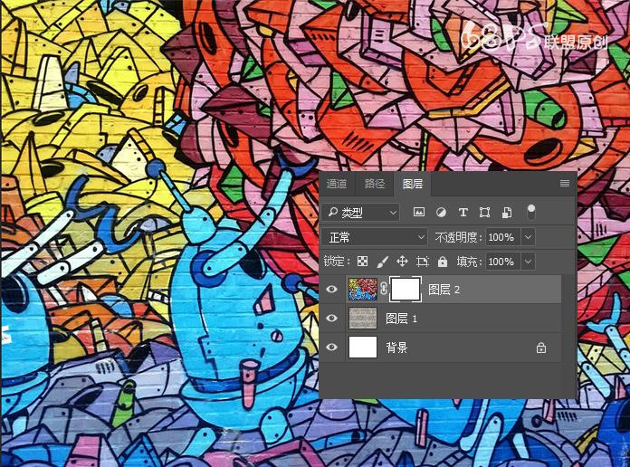 Photoshop把人物墙面涂鸦效果变成漫画漫画-照片古耽图片