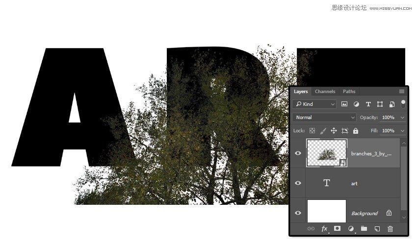 Photoshop製作頹廢風格的雙重曝光藝術字