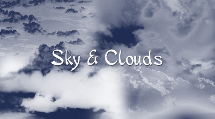 天空云朵和云彩装饰PS笔刷