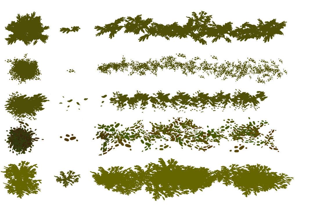 手绘树木和树叶ps笔刷