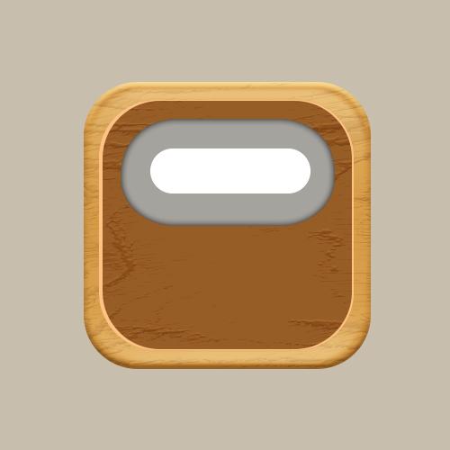 Photoshop繪製木質風格的收音機圖標教程