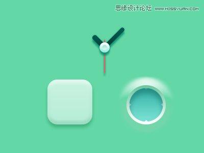 Photoshop繪製綠色主題風格的時鐘圖標