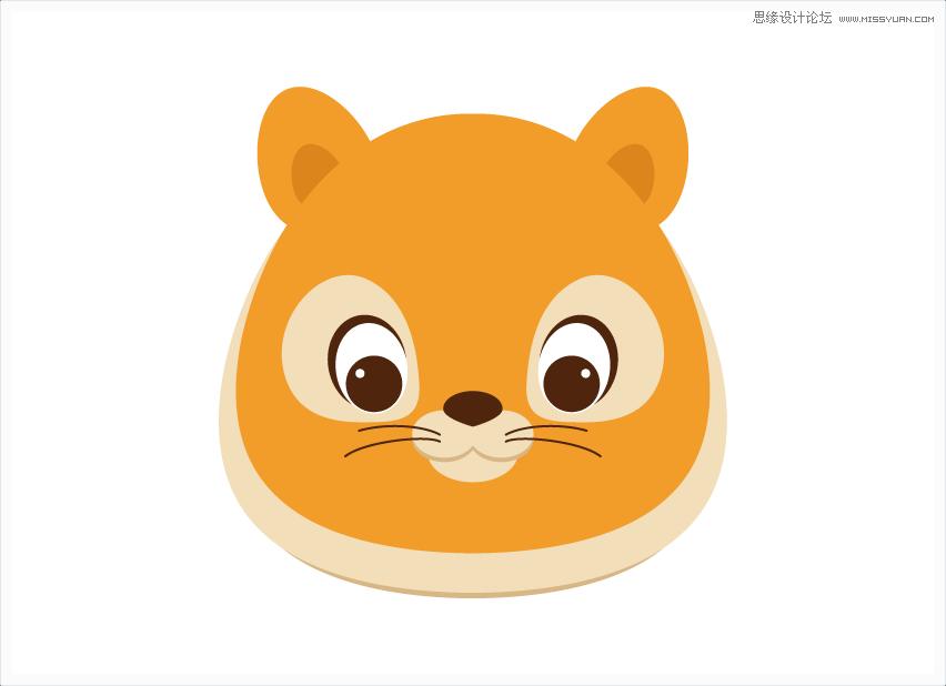 illustrator绘制卡通可爱的小老虎教程(2)