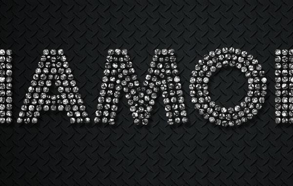 Photoshop製作華麗大氣的鑽石藝術字教程