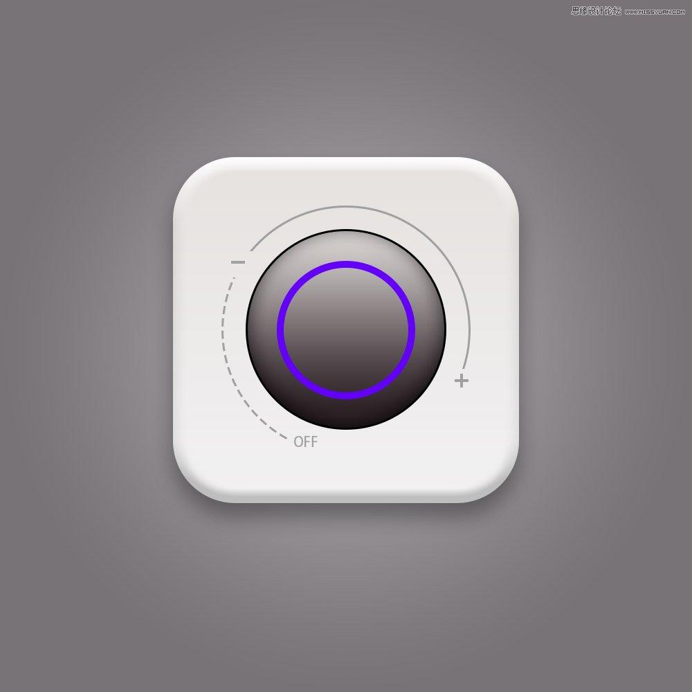 Photoshop绘制立体风格的播放器旋转按钮图标