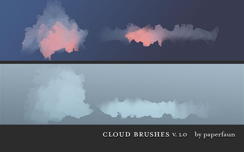 手绘云彩和云朵ps笔刷