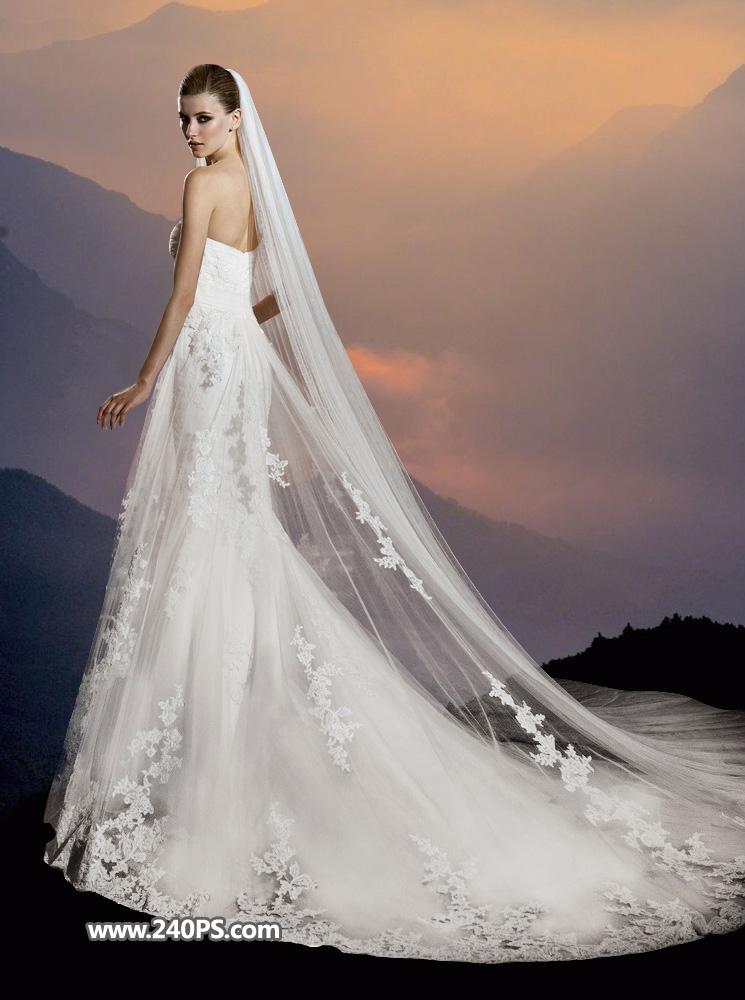 photoshop抠出欧式室内大气时尚的婚纱照片