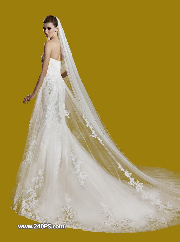 本教程主要使用photoshop抠出欧式室内大气时尚的婚纱照片,原图素材