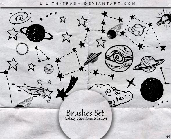 手绘星座和星球ps笔刷