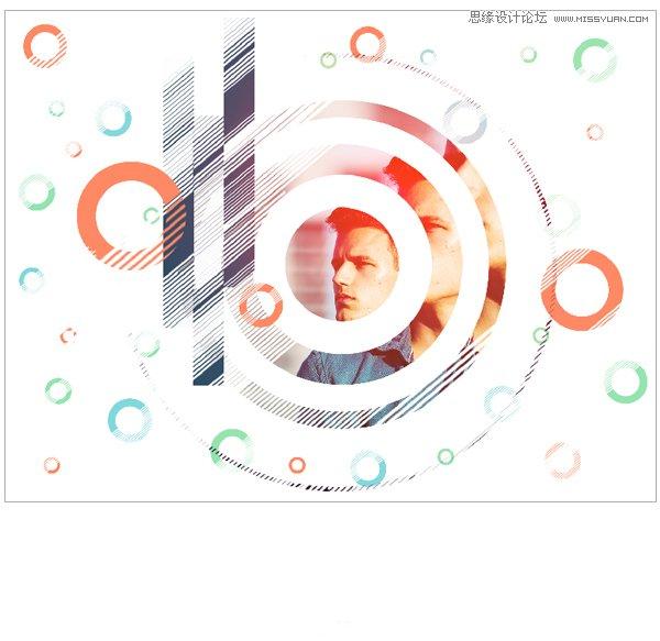 photoshop设计圆形元素组成的创意海报教程