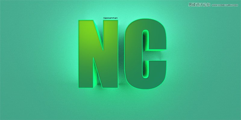 Photoshop製作時尚大氣的3D立體字教程