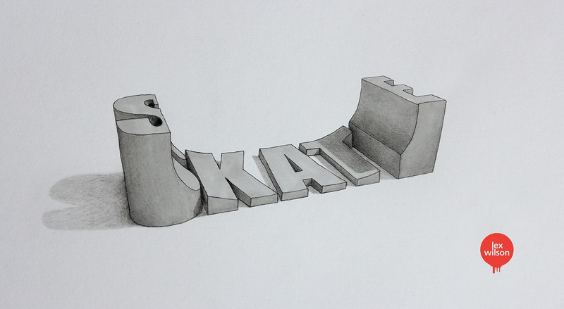 3d主题风格的手绘英文字体设计欣赏