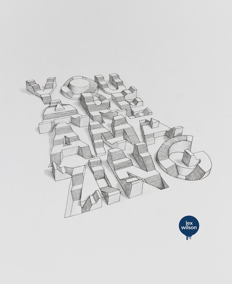 优秀的手绘风格的3d立体字设计欣赏