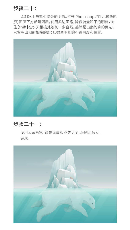 Illustrator绘制创意的北极熊背着冰山效果图,PS教程,思缘教程网