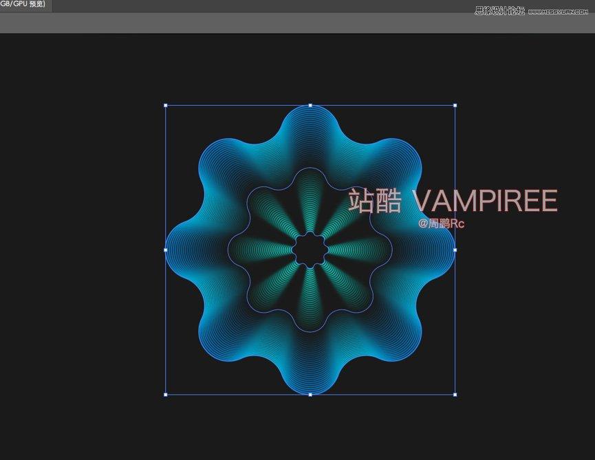 Illustrator製作3D網格特效的夢幻花朵效果