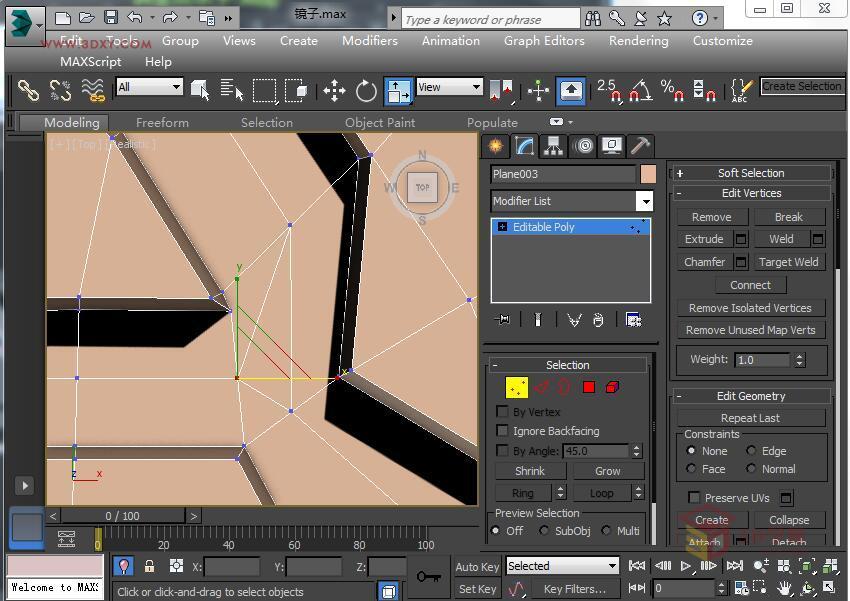 3dsmax实例教程:制作欧式雕花圆镜