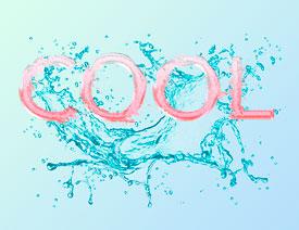 飞溅字体,Photoshop制作水漾酷感飞溅艺术字