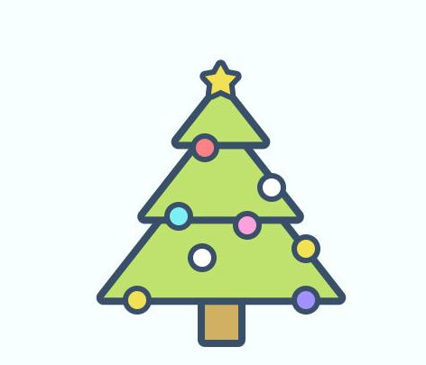 Photoshop繪製卡通風格的聖誕樹效果圖
