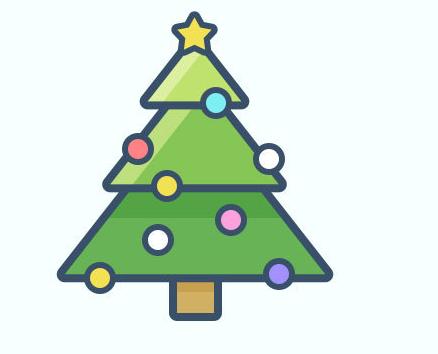 photoshop绘制卡通风格的圣诞树效果图