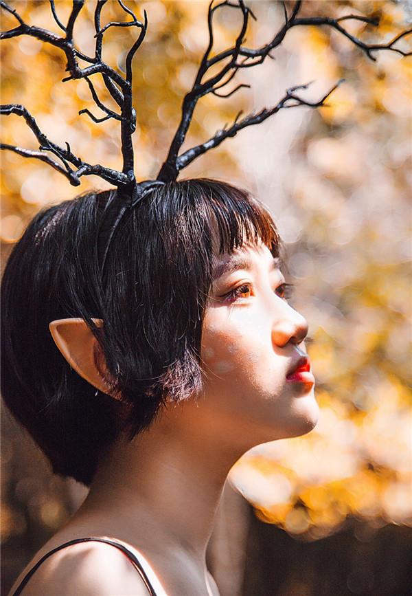 森林 美的 秋季 作品 设计 调出/[PS调色] Photoshop调出森林外景人像秋季金黄色效果