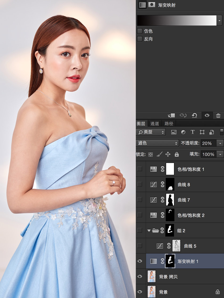 Photoshop给曝光不足的美女人像美白美肤,PS教程,思缘教程网