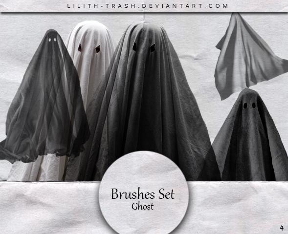 万圣节幽灵装扮PS笔刷