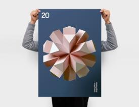 以3D立体图形为主的极简主题海报欣赏