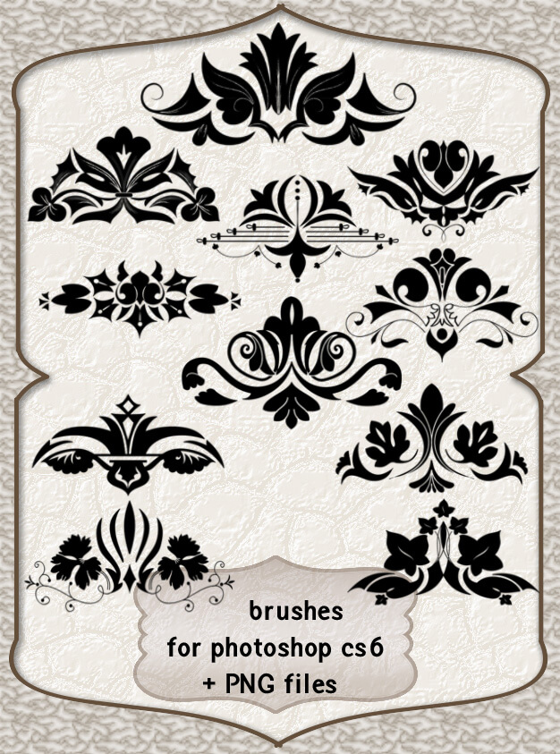 欧美贵族花纹装饰PS笔刷