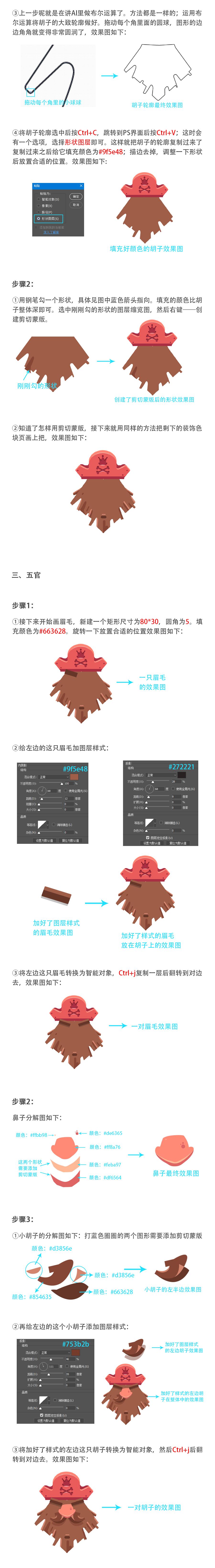 Photoshop繪製矢量風格的海盜插畫教程