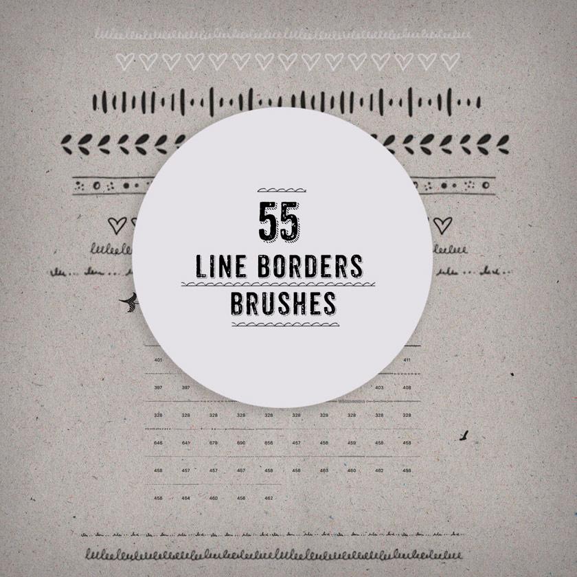 55款手绘分割线PS笔刷