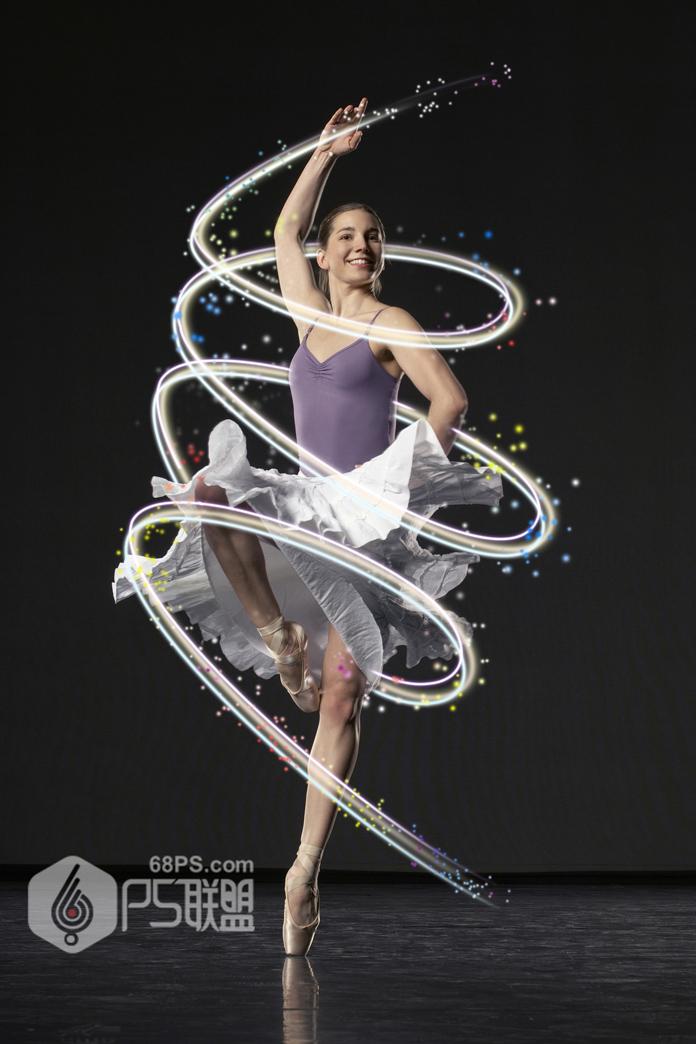 photoshop给跳舞的人像添加梦幻光束效果 - ps转载区