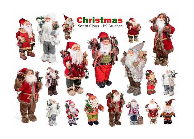 10款圣诞老人PS笔刷