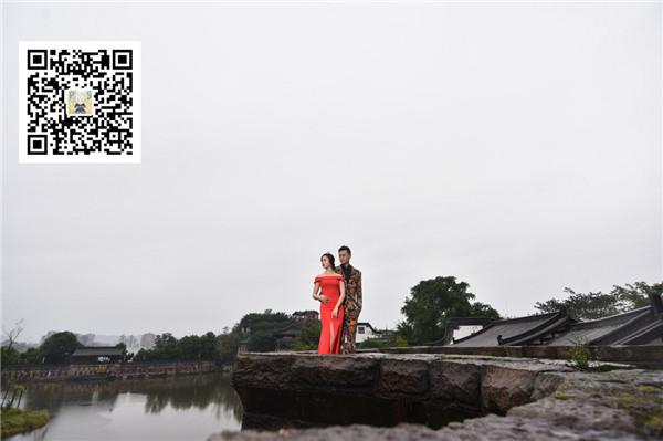 Photoshop巧用素材合成中国风意境婚纱效果,PS教程,思缘教程网