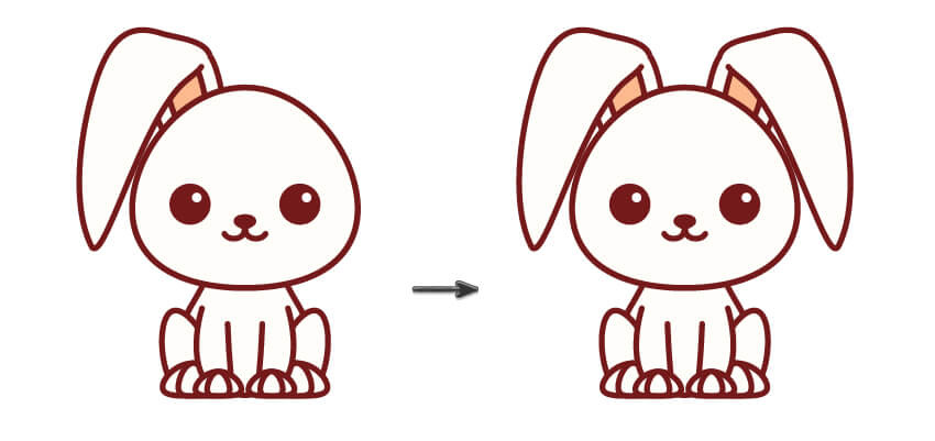 本教程主要使用Illustrator绘制卡哇伊主题风格的小动物插图,画卡哇伊动物总是很有趣。但是这更有趣,你可以释放你的想象力和创造力。在本教程中,您将看到从一个角度制作不同的可爱动物的乐趣和容易程度。通过遵循所有步骤,您将学习如何使用扭曲效果,移动锚点并使用探路者面板。您还将学习如何使用线段工具和反射工具。推荐过来给思缘的朋友学习。 来源:站酷 作者:SHEN设计 最终效果图