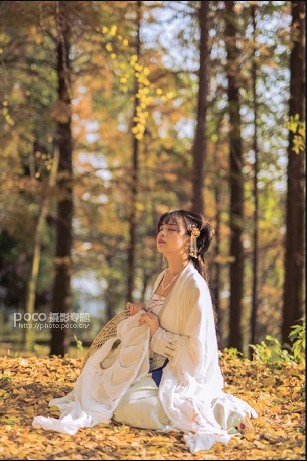 Photoshop调出银杏树下外景人像秋季黄色调,PS教程,思缘教程网