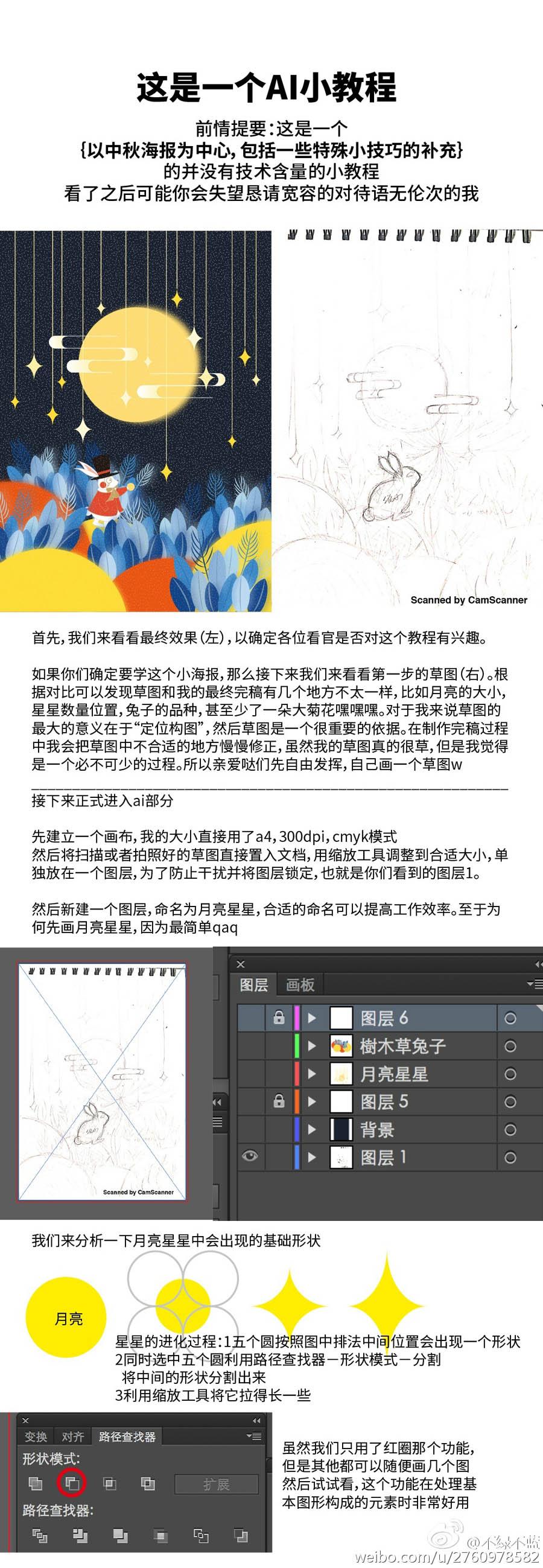 Illustrator绘制创意风格的童话场景海报,PS教程,思缘教程网