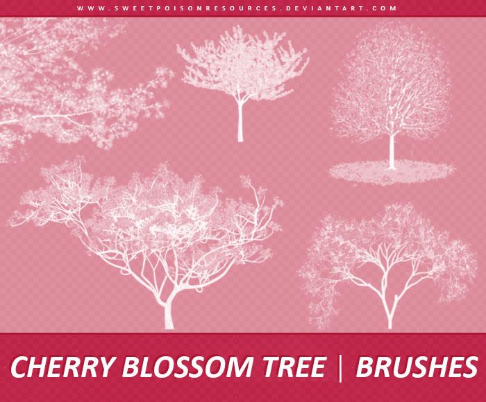 枯树树木装饰PS笔刷