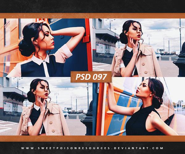 高质感人像通透色彩PSD图层