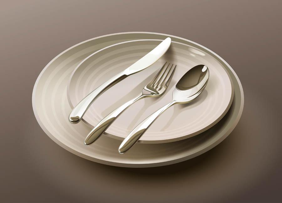 Illustrator绘制简约风格的欧式餐具效果图,PS教程,思缘教程网
