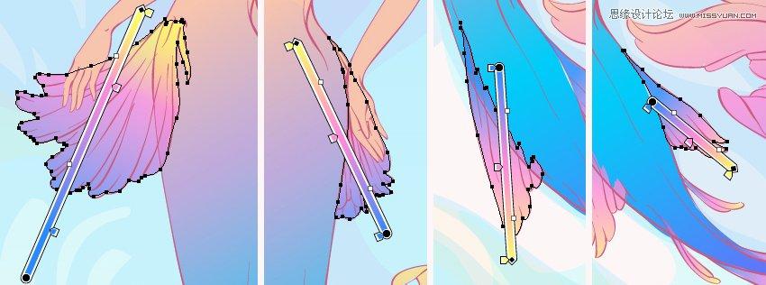 Illustrator繪製唯美的水彩美人魚插圖
