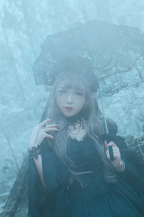 《Gothic Lolita》唯美仙境风摄影后期欣赏,PS教程,思缘教程网