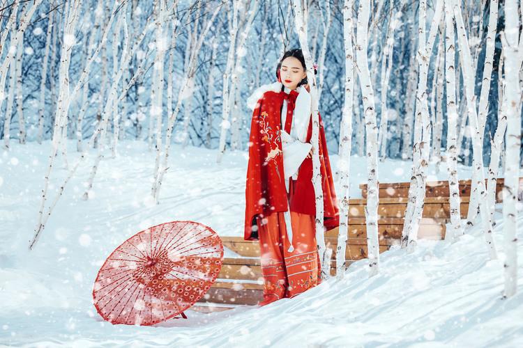 《红颜忆》冬季雪景后期摄影作品,PS教程,思缘教程网