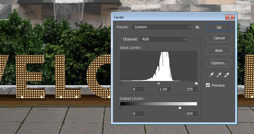 Photoshop製作3D立體風格的矩陣LED字體
