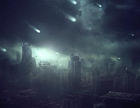 澳门永利官方娱乐网站合成城市被流星攻击场景【英】